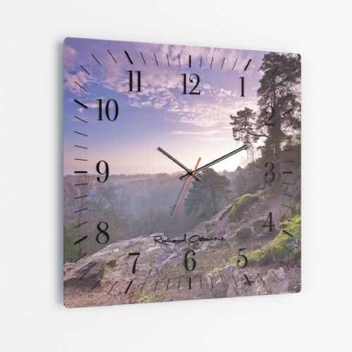 Alderley Edge, Cheshire - Square Glass Clock